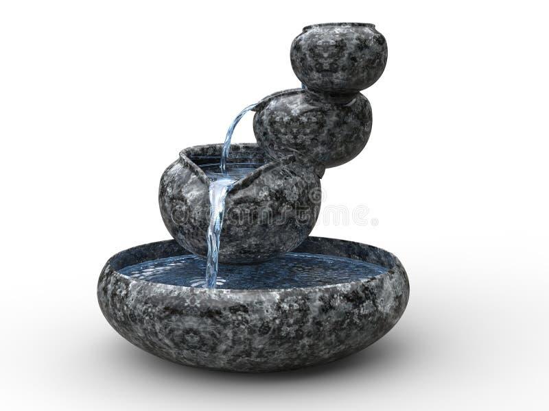 小美丽的禅宗喷泉 皇族释放例证