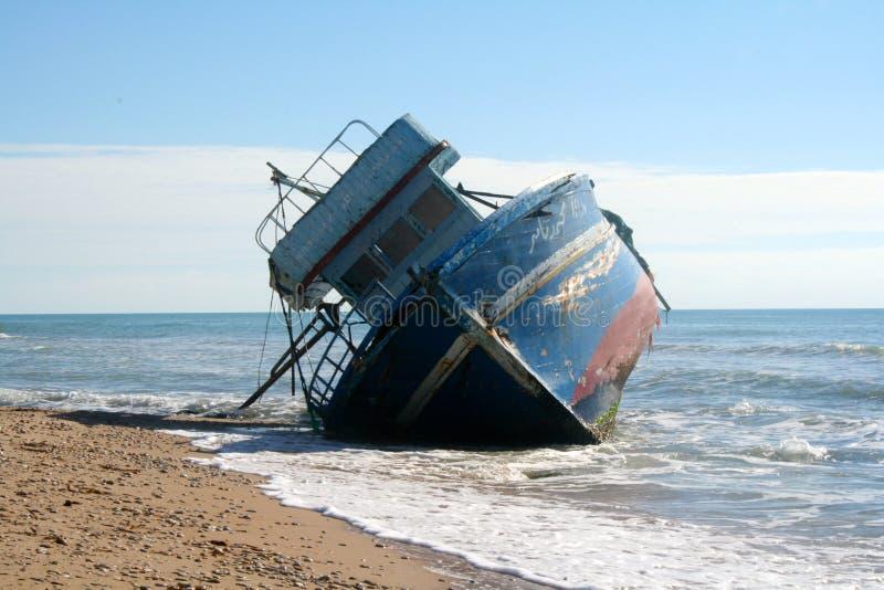 小船中断了 免版税库存图片