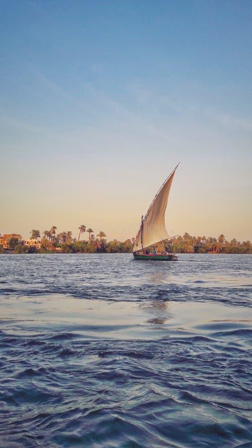 小船乘驾在Assiut的尼罗 免版税图库摄影