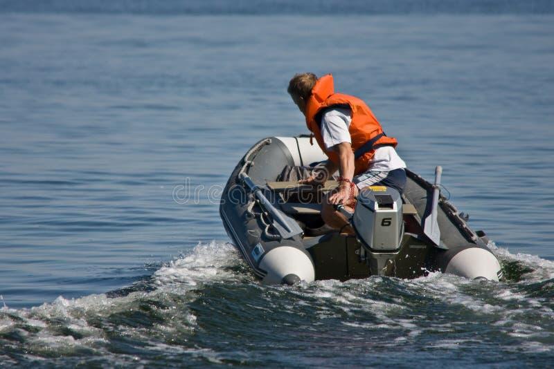 小船乘驾 库存照片