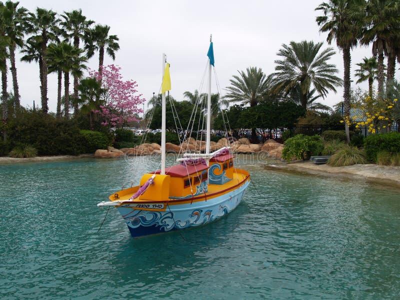小船俏丽的一点 图库摄影