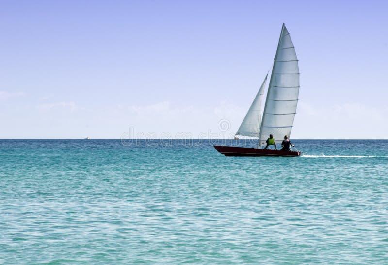 小船划船航行 图库摄影