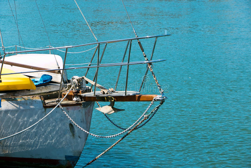 小船前面 图库摄影