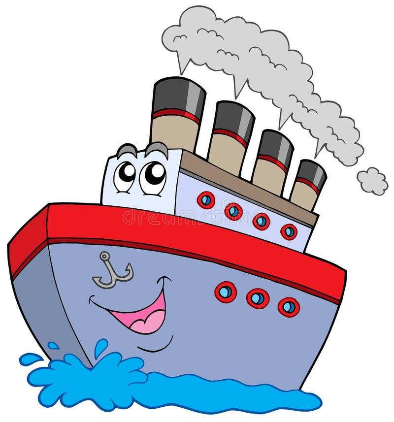 小船动画片 皇族释放例证