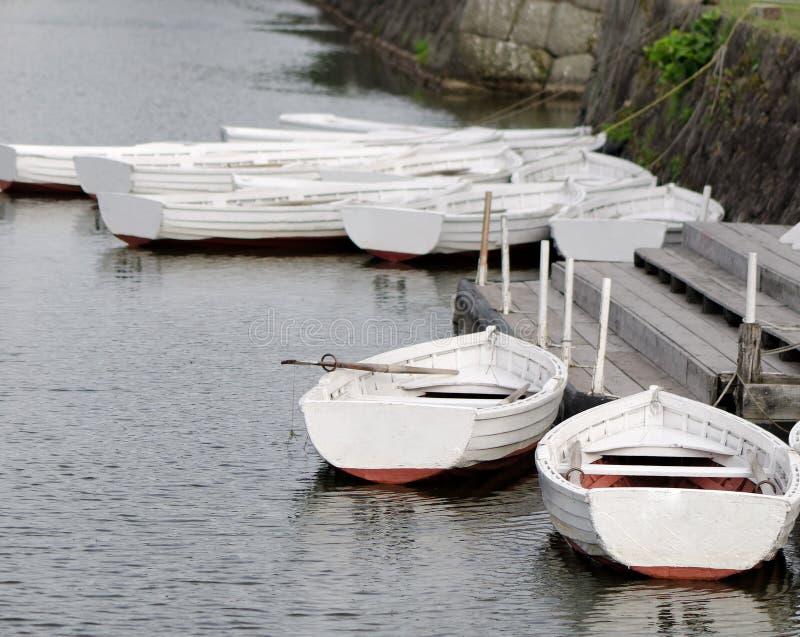 小船北海道日本湖 免版税库存图片
