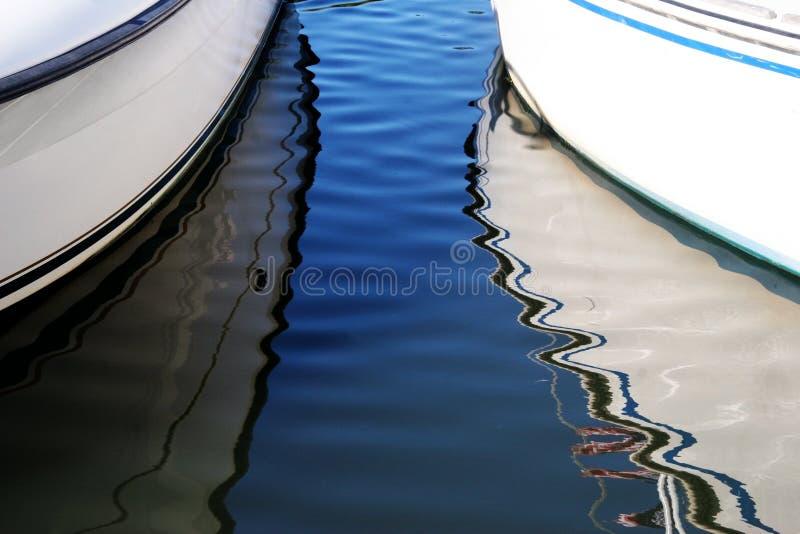 小船反映 库存图片