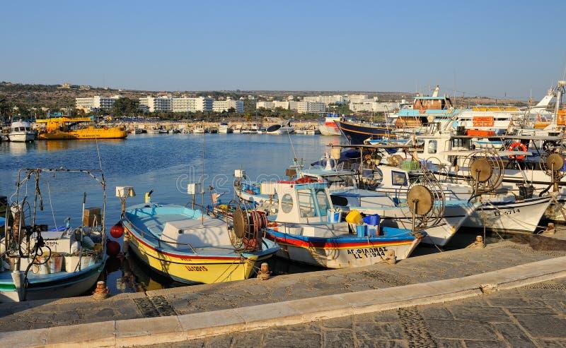 小船和游艇, Ayia Napa,塞浦路斯 库存图片