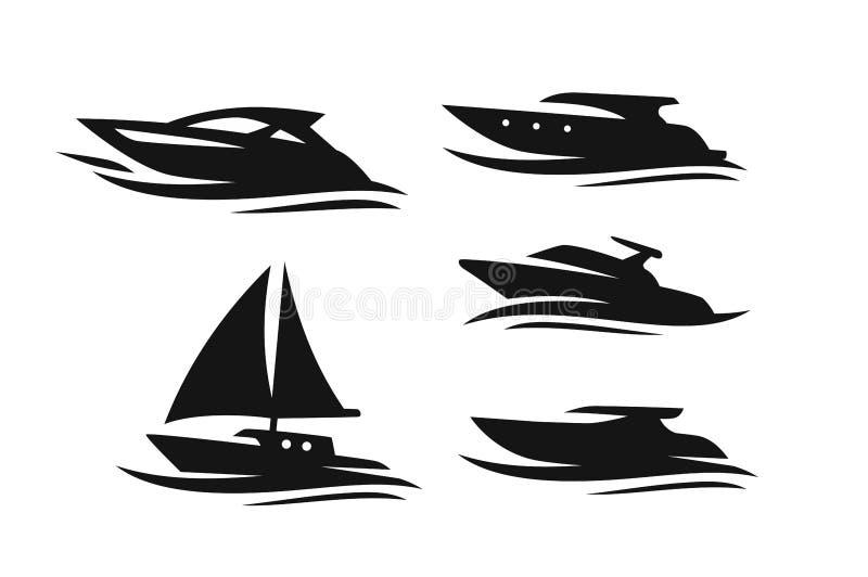 小船和船 库存例证