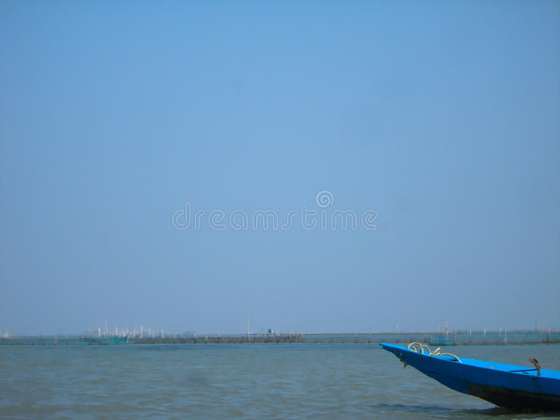小船和水 图库摄影