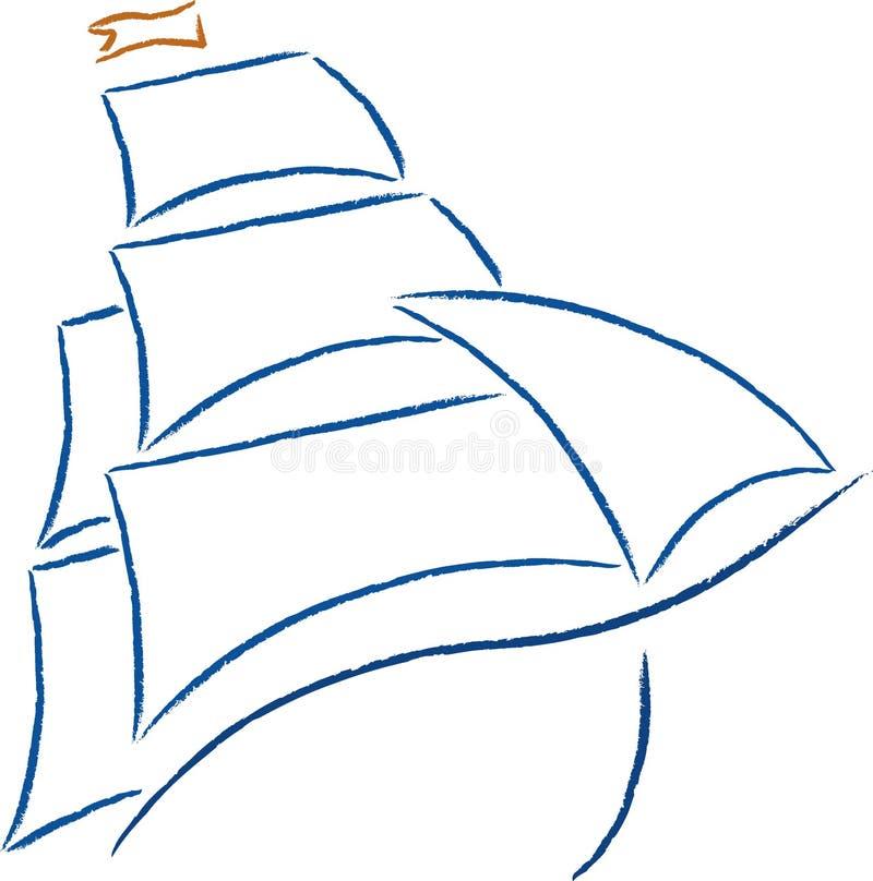小船图标 皇族释放例证