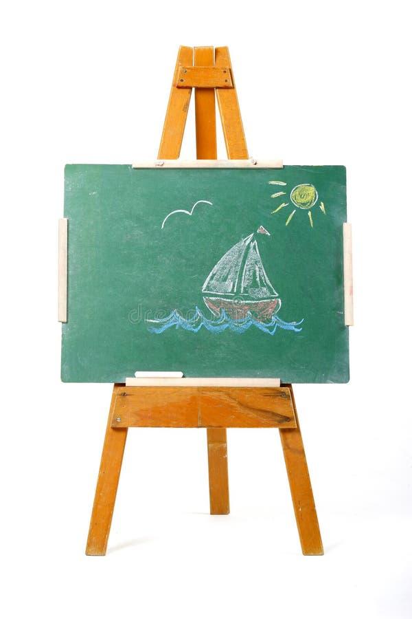 小船图画航行 库存照片