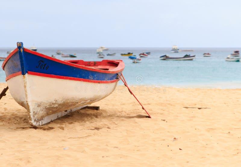 小船圣塔玛丽亚佛得角 库存照片