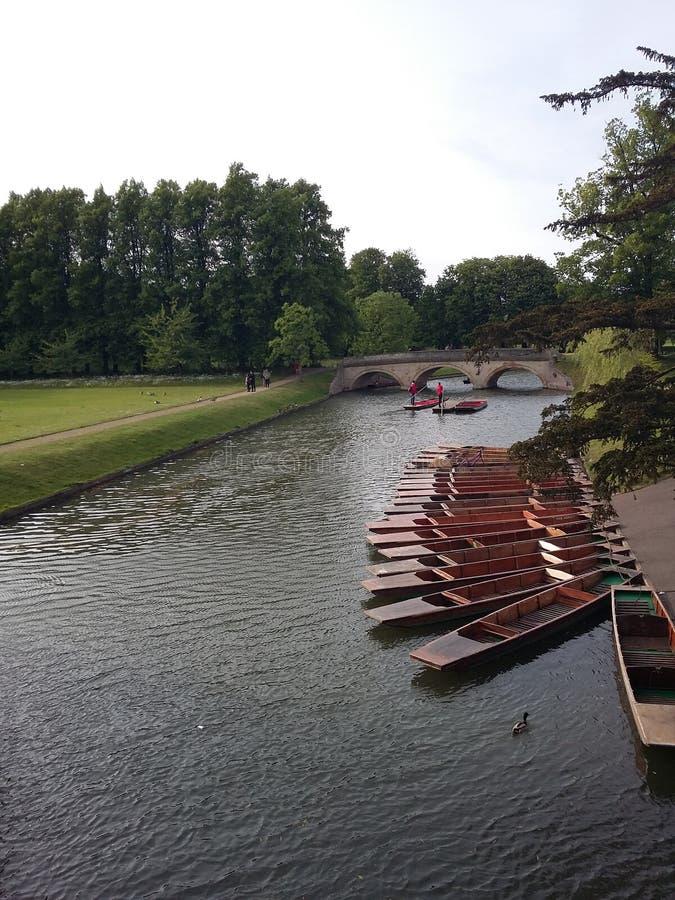 小船在剑桥 免版税库存照片