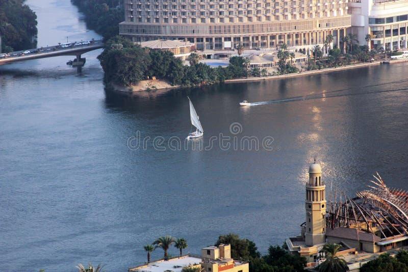 小船在开罗尼罗  图库摄影