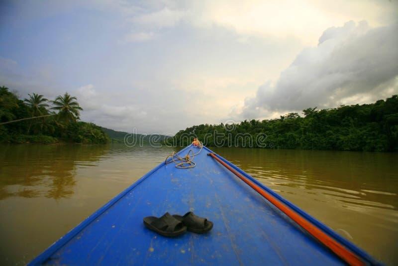 小船在戈公岛 免版税库存照片