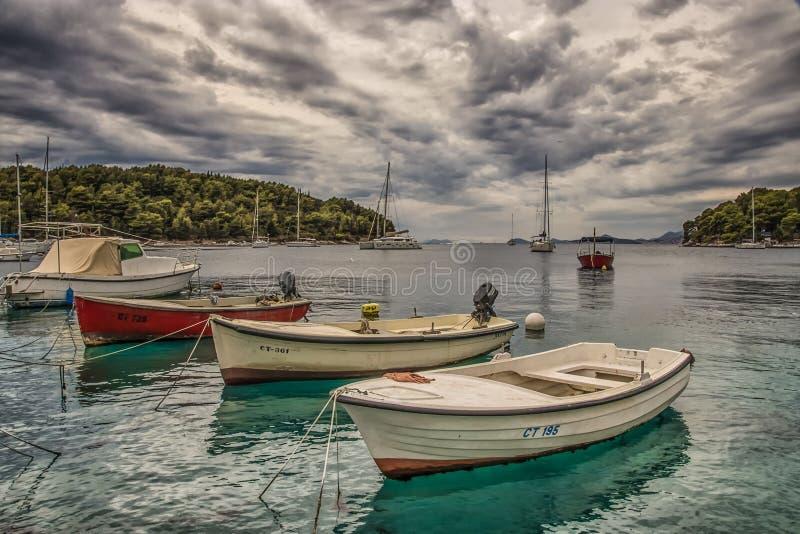 小船在港口 免版税库存图片