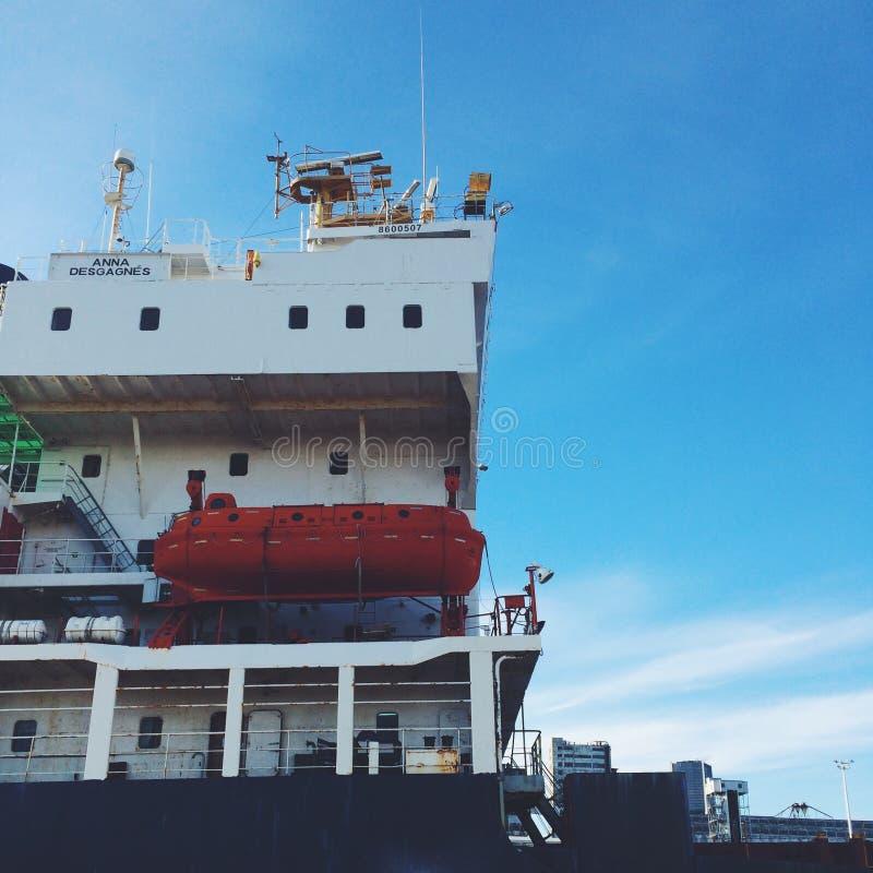 小船在蒙特利尔 免版税库存照片