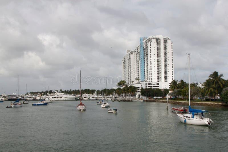 小船在迈阿密 图库摄影