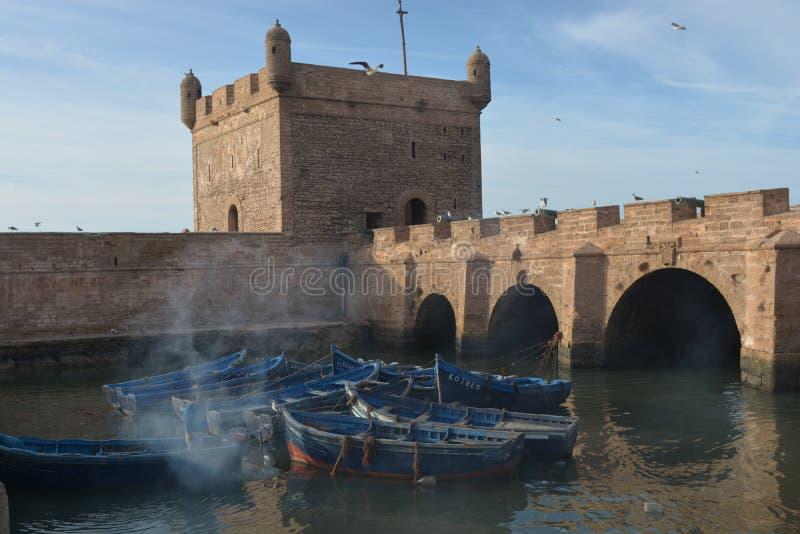 小船在索维拉摩洛哥 免版税库存图片