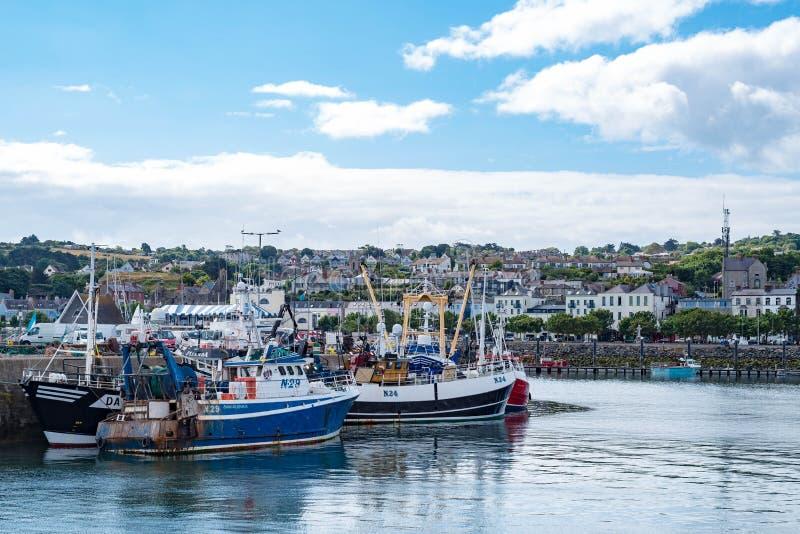 小船在Howth港口 免版税图库摄影