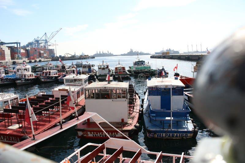 小船在ValparaÃso 免版税图库摄影