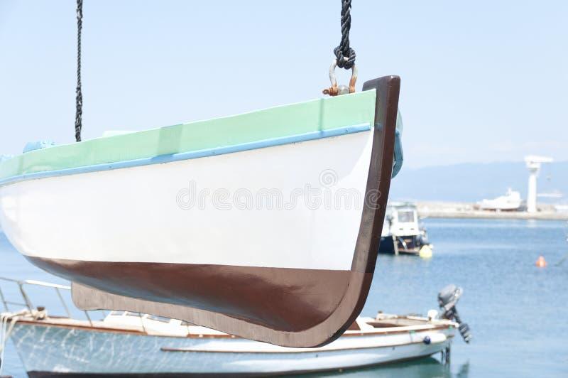 小船垂悬 库存图片