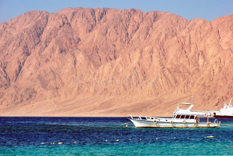 小船埃及红海 免版税库存图片