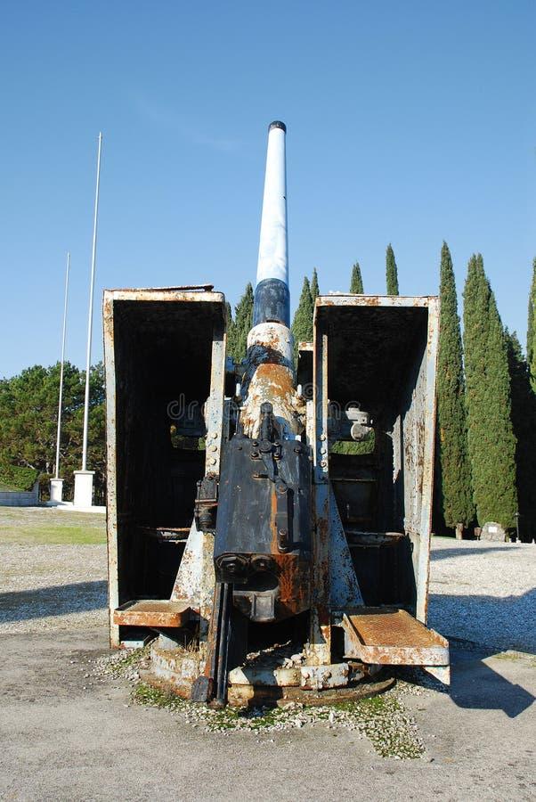 小船大炮二战争世界 库存照片