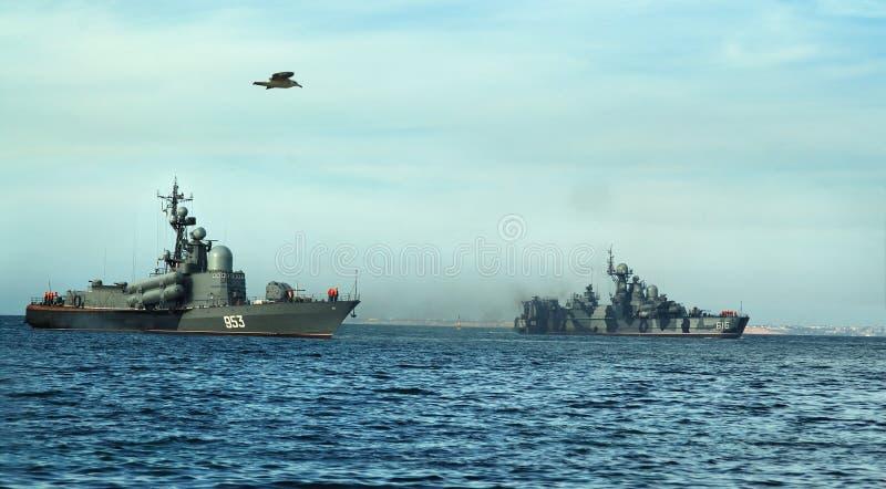 小船导弹 库存照片