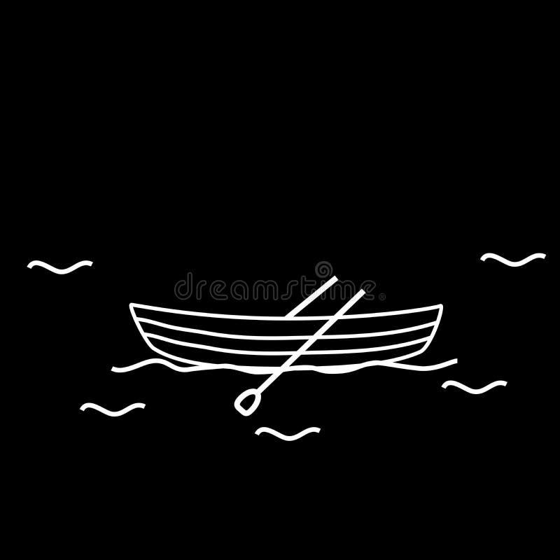 小船小船两桨 向量例证