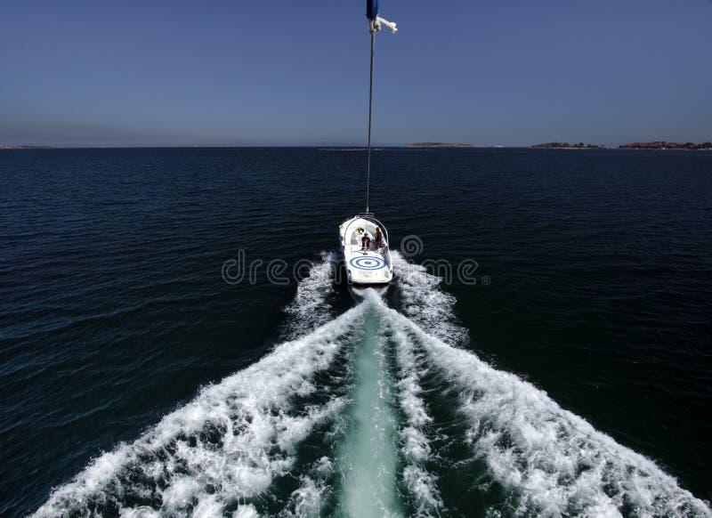 小船帆伞运动 免版税库存图片