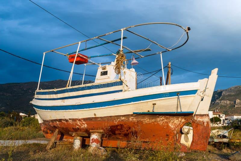 小船希腊 免版税图库摄影
