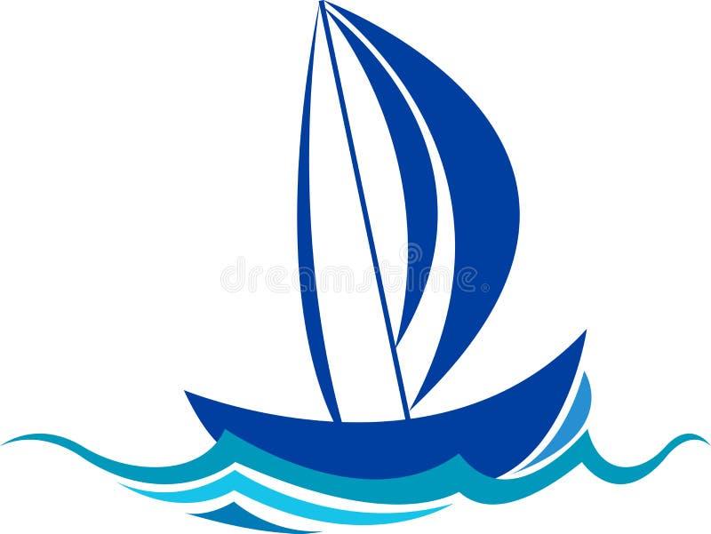 小船徽标 向量例证