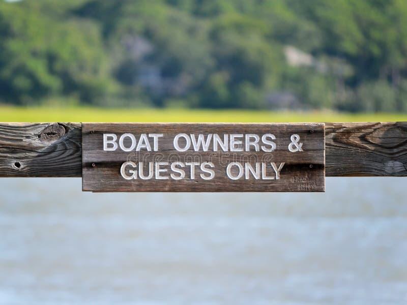 小船所有者标志2 免版税图库摄影