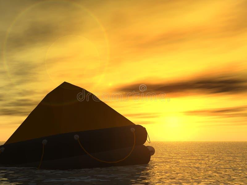 小船抢救 库存照片