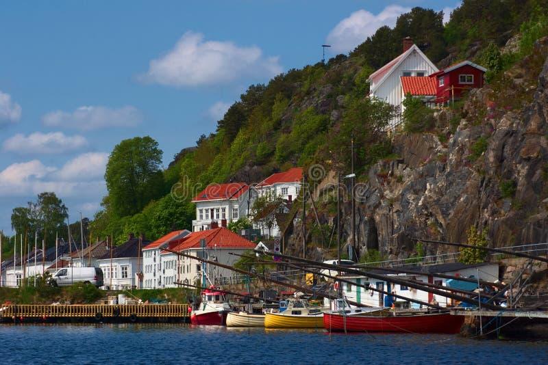 小船挪威risor 图库摄影