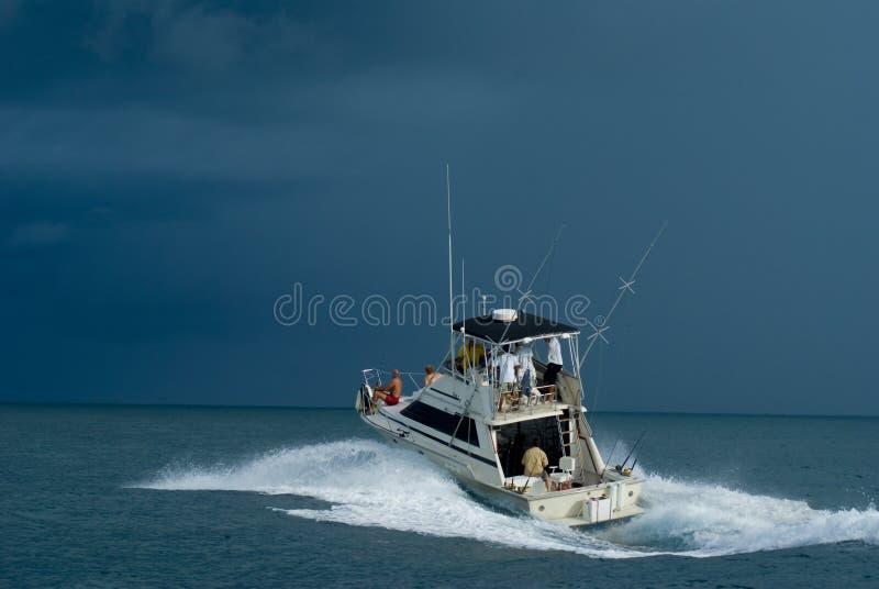 小船捕鱼体育运动 库存照片