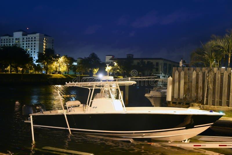 小船捕鱼佛罗里达Fort Lauderdale箭鱼 库存照片