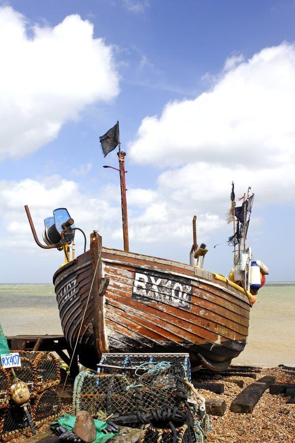 小船捕鱼 免版税库存图片