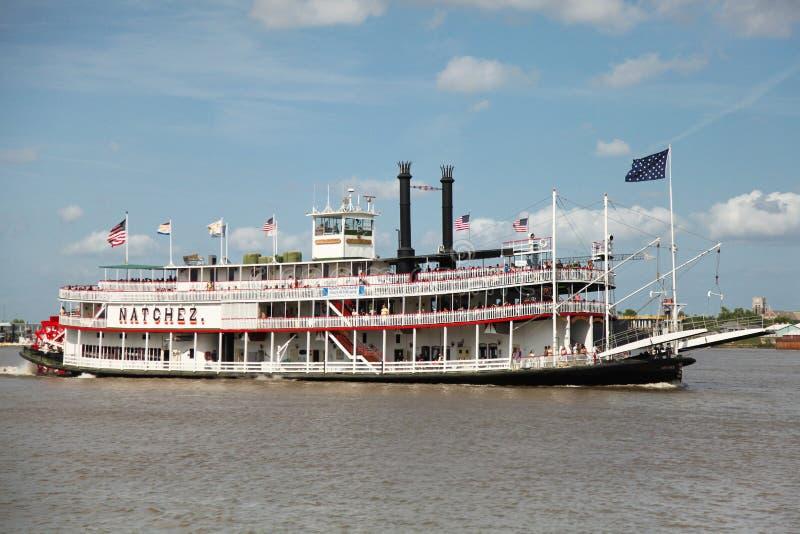 小船新奥尔良桨蒸汽 库存图片