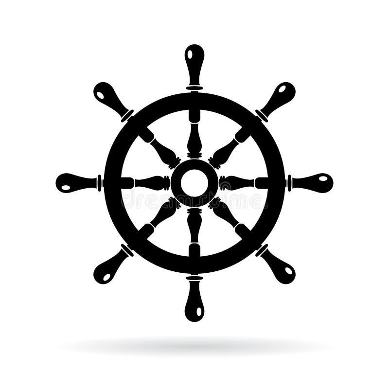 小船方向盘传染媒介象 皇族释放例证