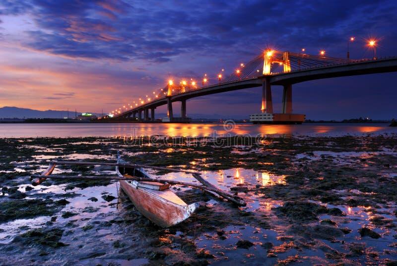 小船桥俯视 免版税库存图片