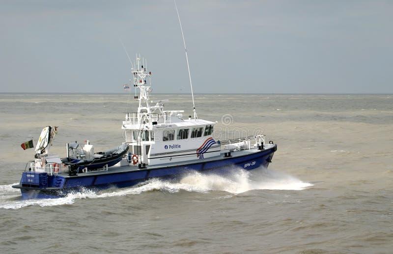 小船海洋警察 免版税库存图片