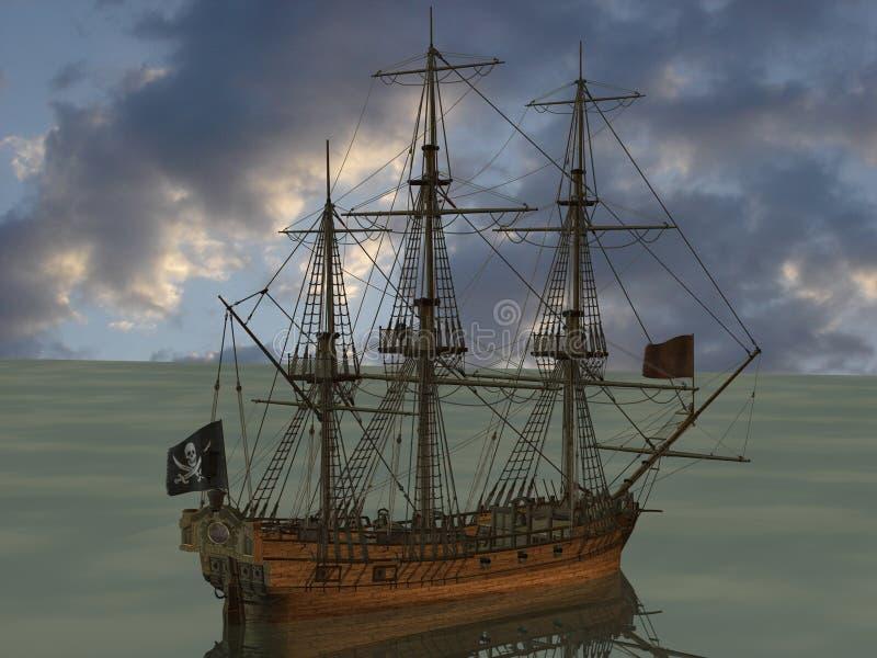 小船海盗 库存例证