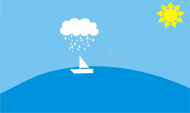 小船海运 向量例证