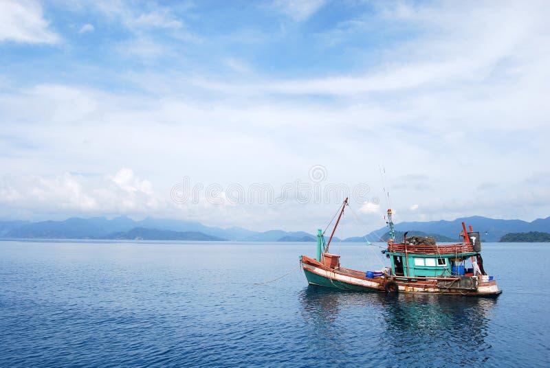 小船渔夫 免版税库存照片