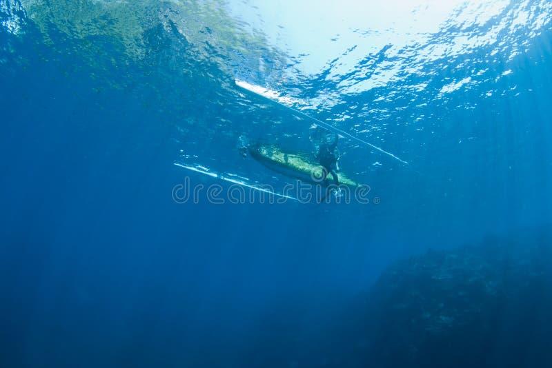 小船潜水员 库存图片