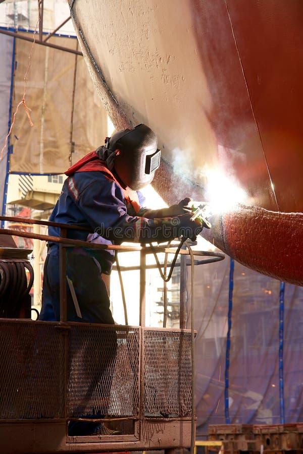 小船焊接 免版税库存照片