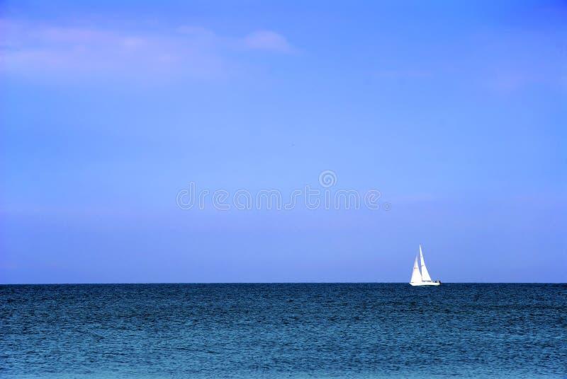 小船白色 库存图片