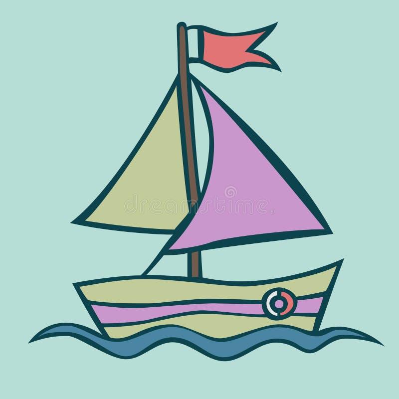 小船的传染媒介例证 免版税库存图片